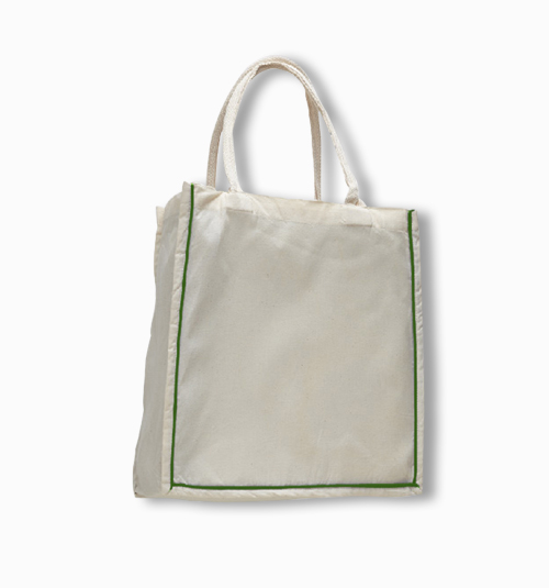 Custom Canvas Color Stripe Fancy Tote