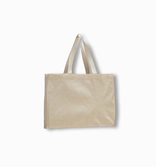 Custom Canvas Gusset Tote Bag