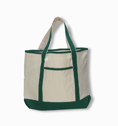 Custom Deluxe Tote Bag with Zippered Pocket