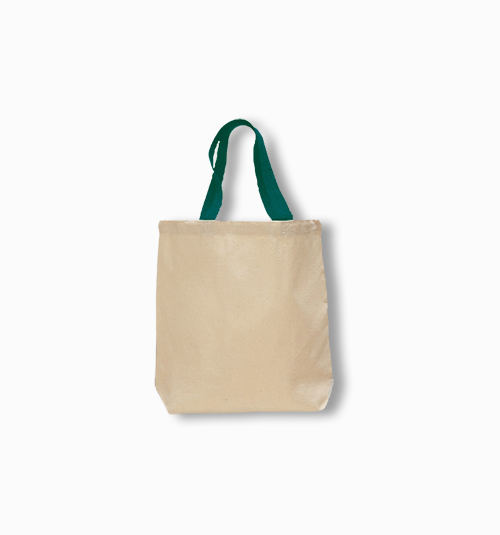 Custom Jumbo  Tote with colored handles