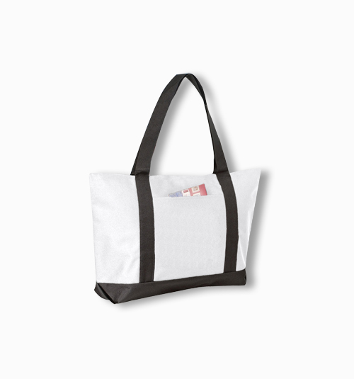 Custom Poly Tote With colored handles