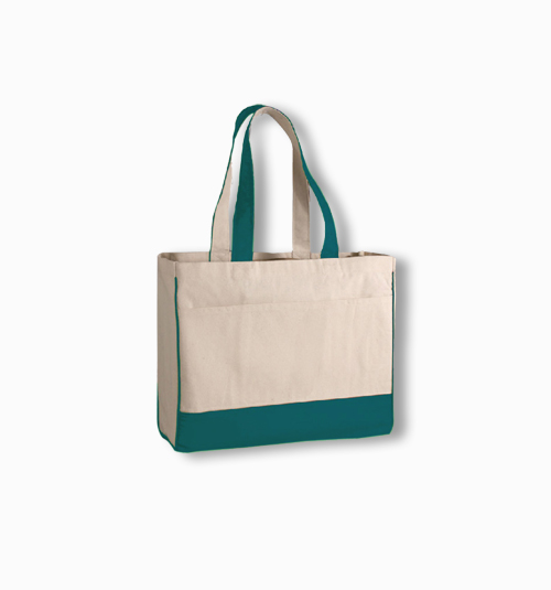Custom  Shopping Tote with Zippered Pocket