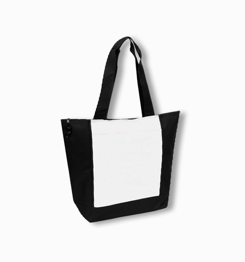 Custom Zipper Poly Shopping Tote Bag