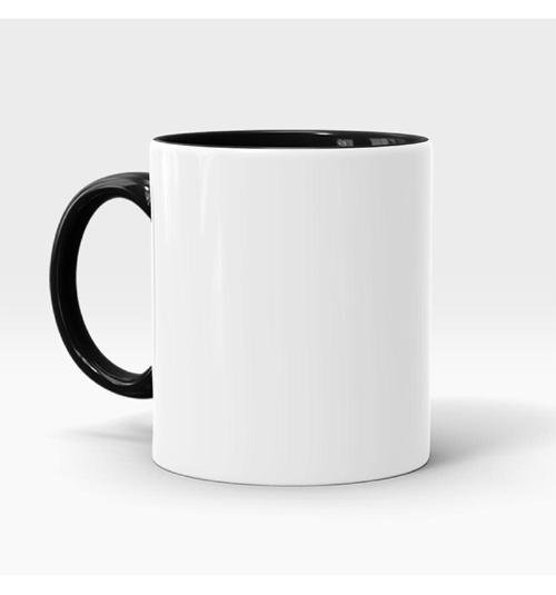 Inner and Handle Coloured Mug-Black