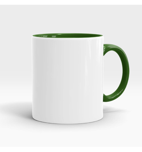Inner and Handle Coloured Mug-Green
