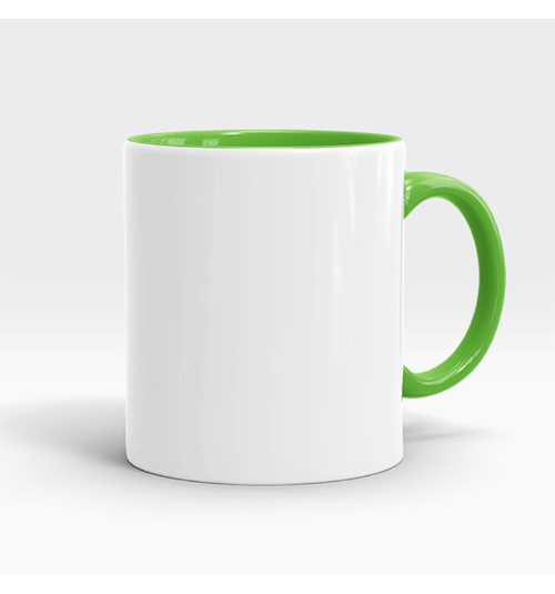 Inner and Handle Coloured Mug-Lime Green