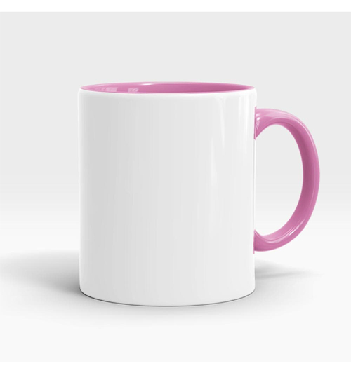 Inner And Handle Coloured Mug-Light Pink