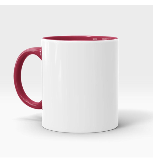 Inner and Handle Coloured Mug-Maroon
