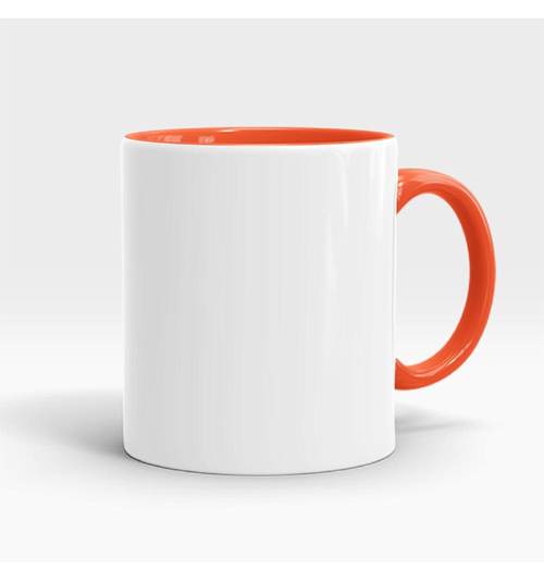 Inner and Handle Coloured Mug-Orange