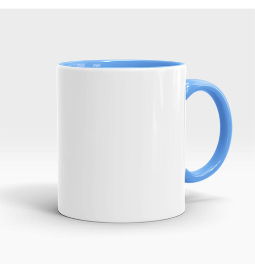 Inner and Handle Coloured Mug-Sky Blue