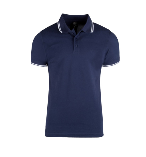 Men's Cotton Polo Neck T-shirt with stripes