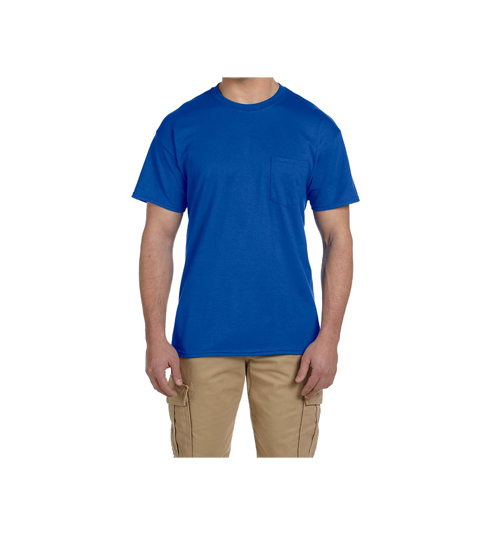 Mens Cotton Round Neck T-Shirt With Pocket