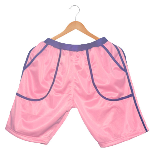 d371ae513003 Polyester Men s sports shorts-Pink